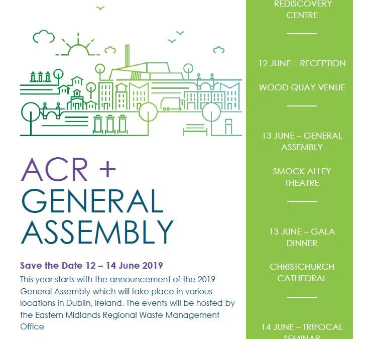 ACR+ General Assembly | Exciting moments ahead, save the date of 12 to 14 June 2019